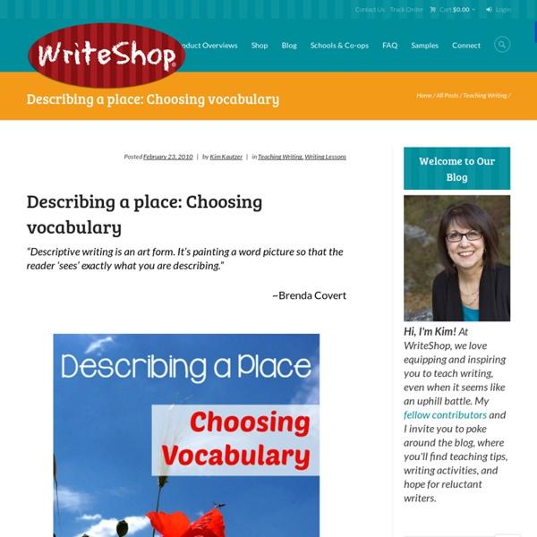 Teaching KIds to Write with Vivid Vocabulary