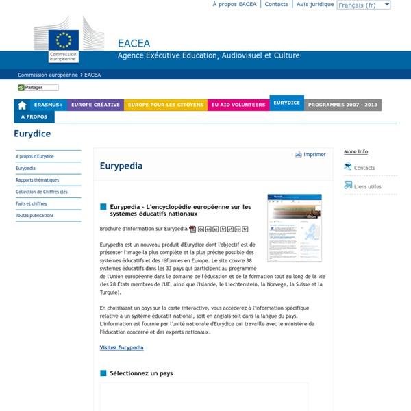 Eurypedia - Description des systèmes éducatifs nationaux et des politiques éducatives
