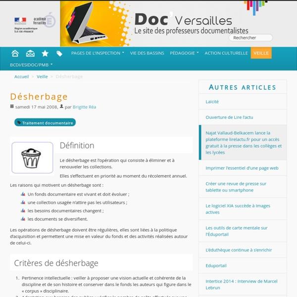 Désherbage - Documentation