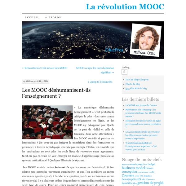 Les MOOC déshumanisent-ils l'enseignement ?