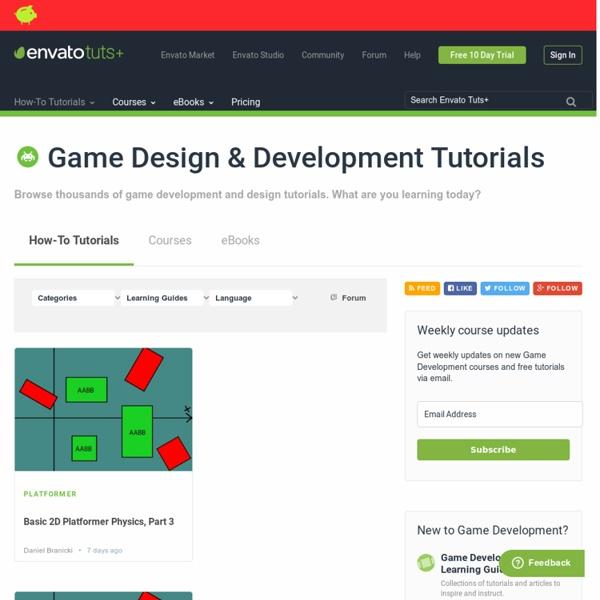 Tuts+ Free Game Development Tutorials
