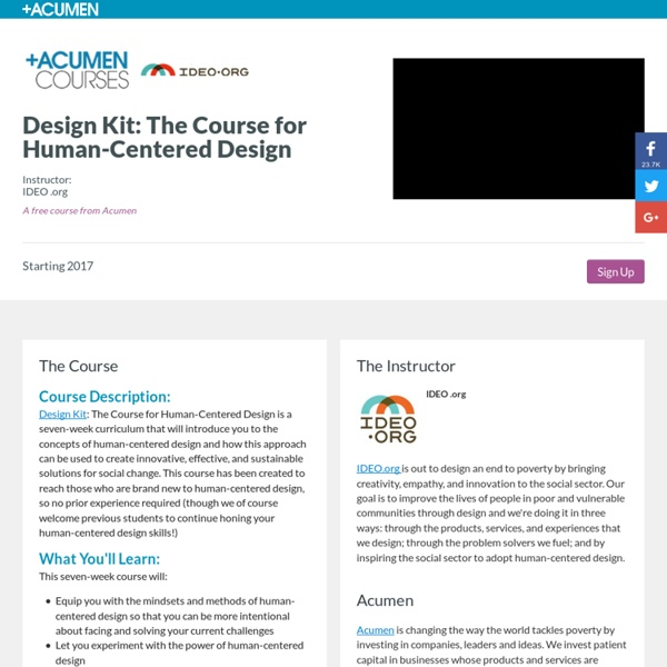 Design Kit: The Course for Human-Centered Design
