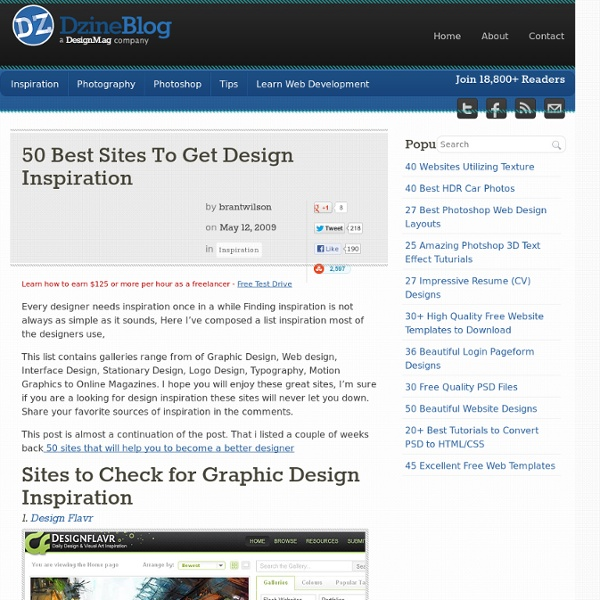 50 Best Sites To Get Design Inspiration at DzineBlog