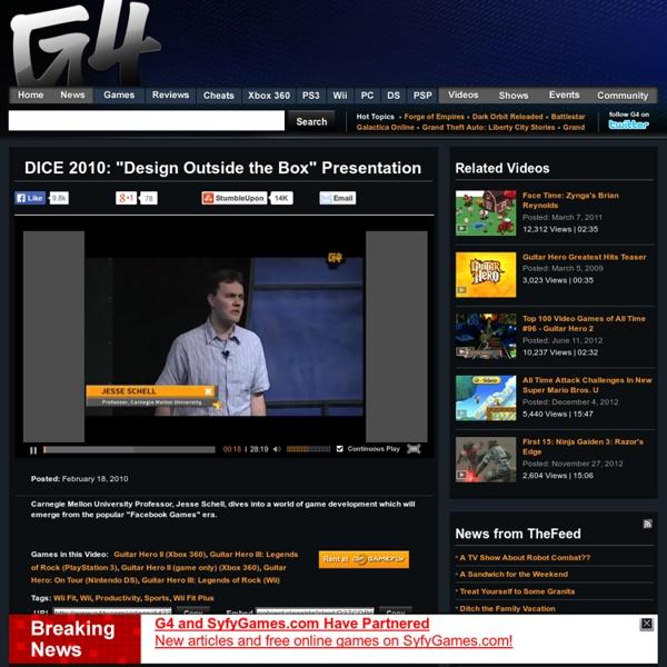 """DICE 2010: """"Design Outside the Box"""" Presentation Videos"""