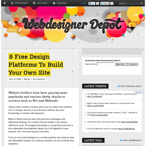 8 Free Design Platforms To Build Your Own Site