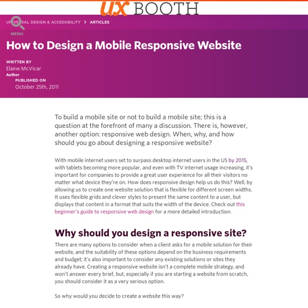 How to Design a Mobile Responsive Website - UX Booth