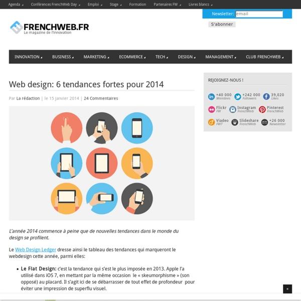 Web design: 6 tendances fortes pour 2014