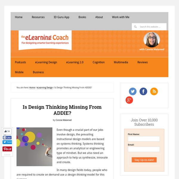 Is Design Thinking Missing From ADDIE?
