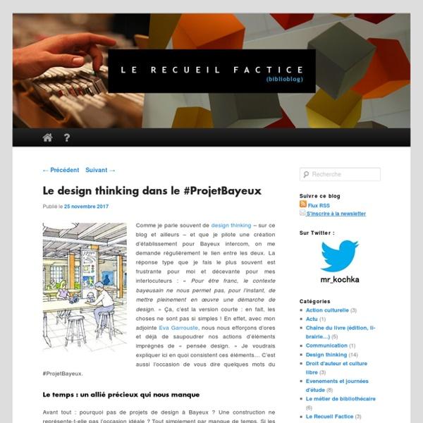 Le design thinking dans le #ProjetBayeux