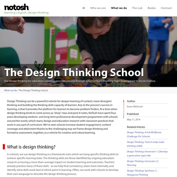The Design Thinking School \ What we do