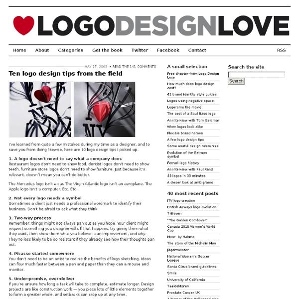 Ten logo design tips from the field