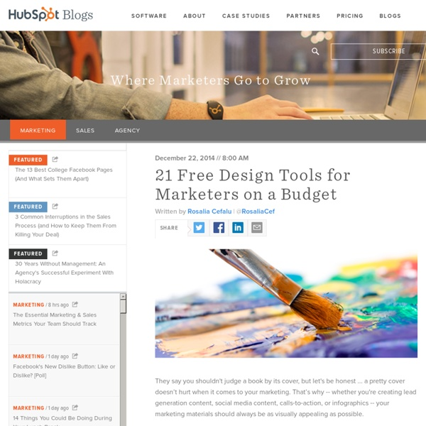 21 Free Design Tools for Marketers on a Budget