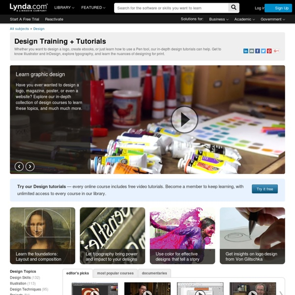 Design Video Courses and Tutorials from lynda