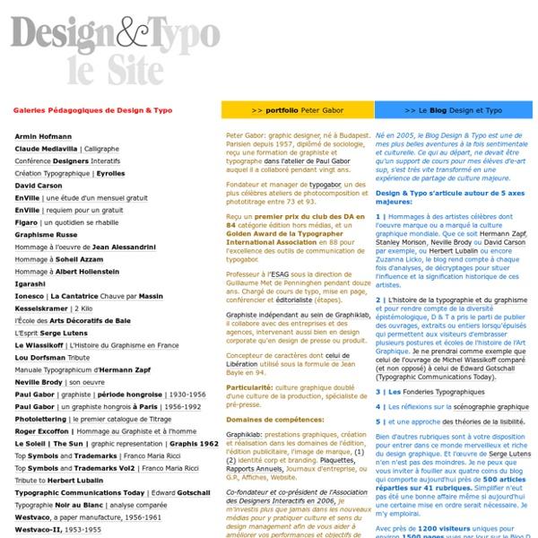 Design & Typo, le site