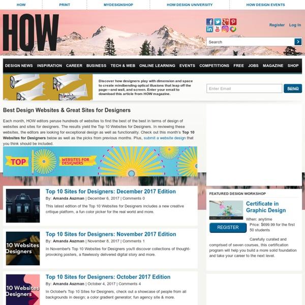 Top 10 Websites for Designers - April 2012