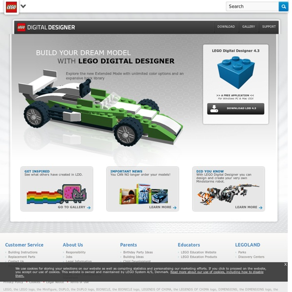 LEGO.com Digital Designer Virtual Building Software