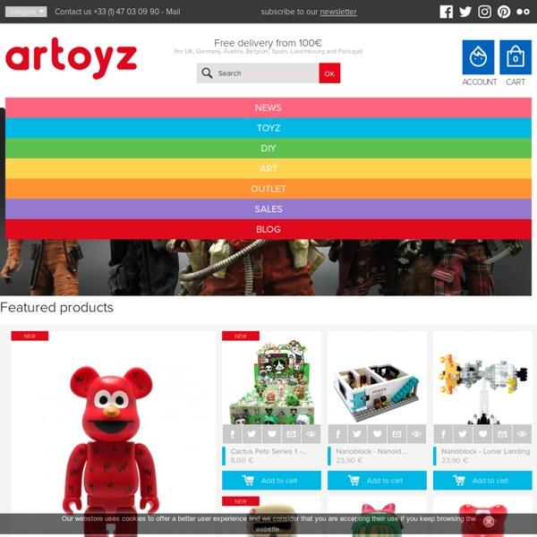 Designer & Art Toys, Figurines a Customiser, Graphic Design & Pop Culture. - Artoyz