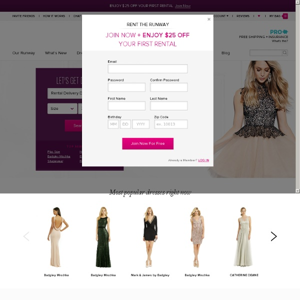 Rent Designer Dresses, Gowns, & Accessories for Women