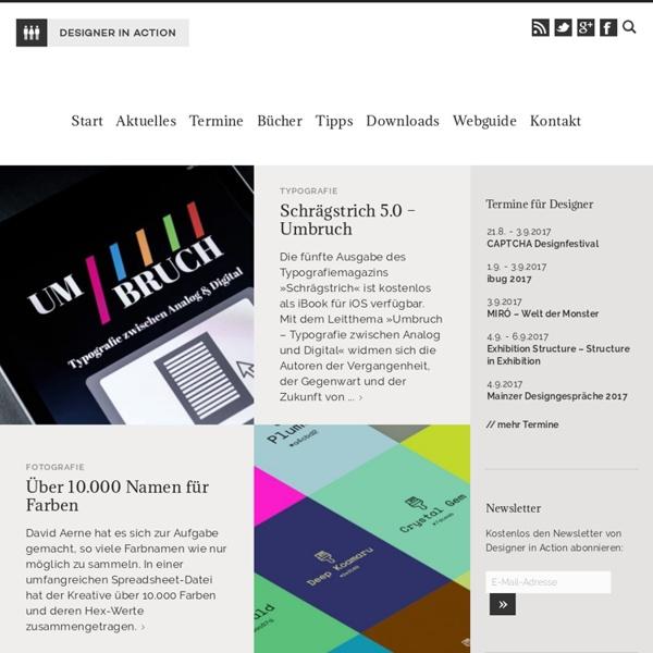 DESIGNER IN ACTION - InfoSite für Kreative, Designer und Design