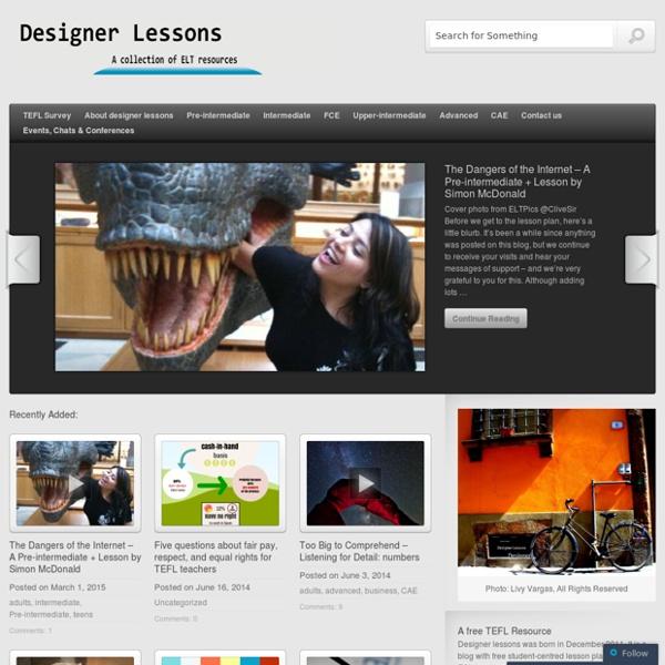 Designer lessons