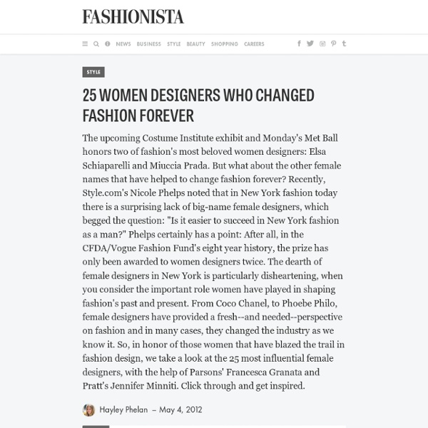 25 Women Designers Who Changed Fashion Forever