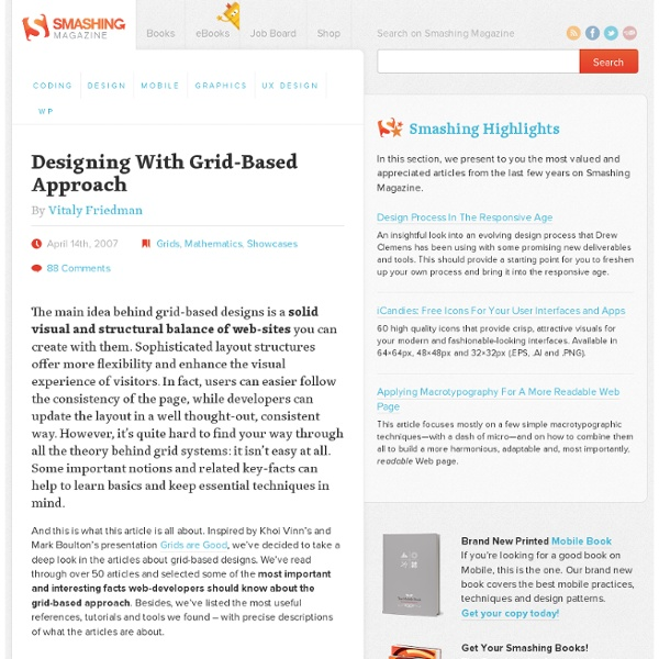 Designing With Grid-Based Approach