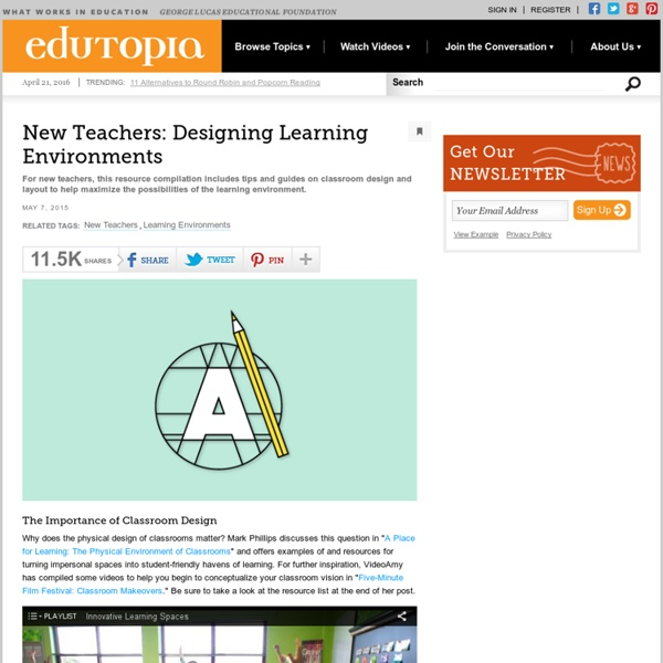 New Teachers: Designing Learning Environments