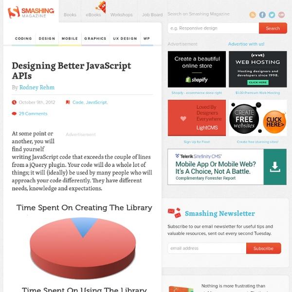 Designing Better JavaScript APIs