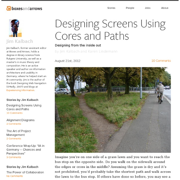 Designing Screens Using Cores and Paths