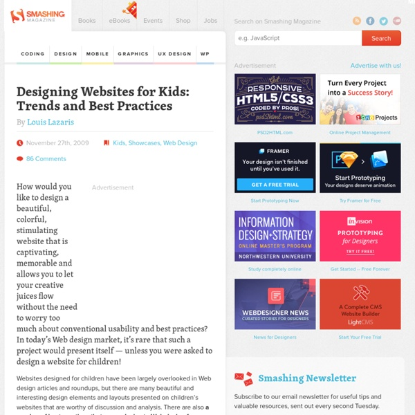 Designing Websites for Kids: Trends and Best Practices