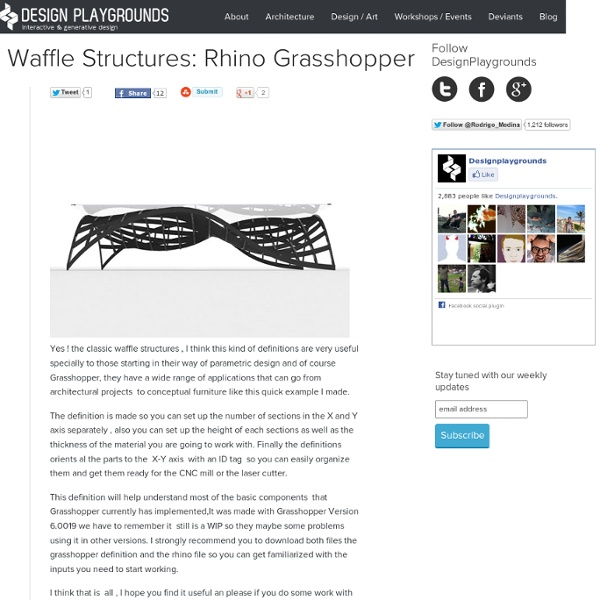 Archive » Waffle Structures: Rhino Grasshopper