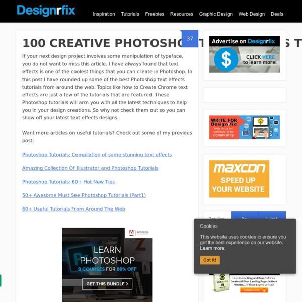 100 Creative Photoshop Text Effects Tutorials