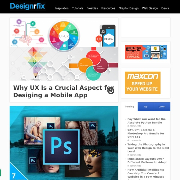 Graphic Design Inspiration - Tutorials & Web Design Resources