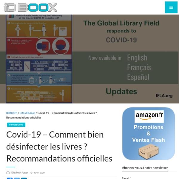 Covid-19 – Comment bien désinfecter les livres ? Recommandations officielles - IDBOOX