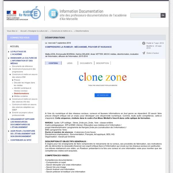 Comprendre la rumeur : mécanisme, pouvoir et nuisance - Docs Aix-Marseille