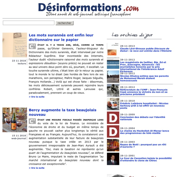 Désinformations.com web-journal satirique