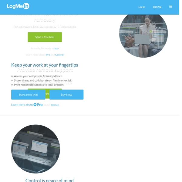 LogMeIn - Remote Access and Desktop Control Software for Your Computer