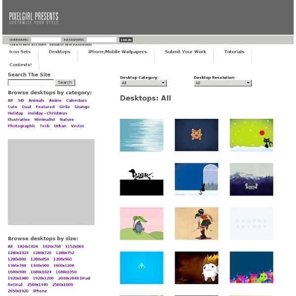Pixelgirl Presents Free Icons, Desktops and Gallery Shop!