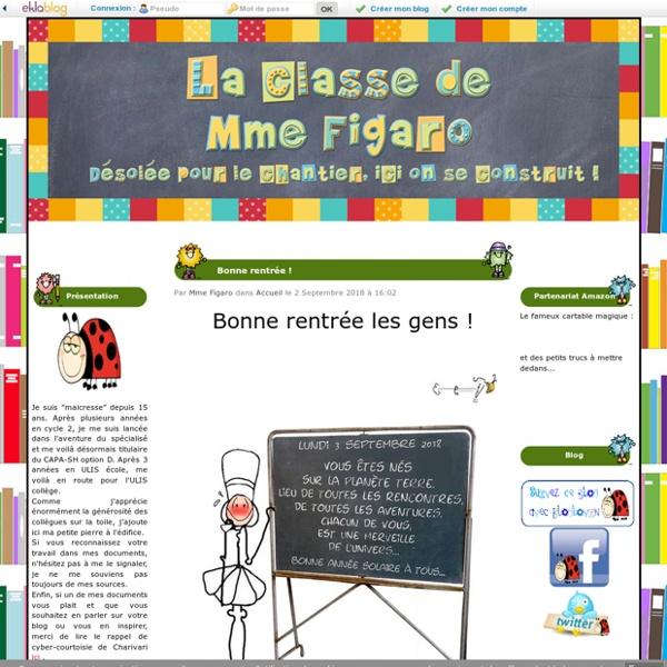 La classe de Mme Figaro - Désolée pour le chantier, ici on se construit !