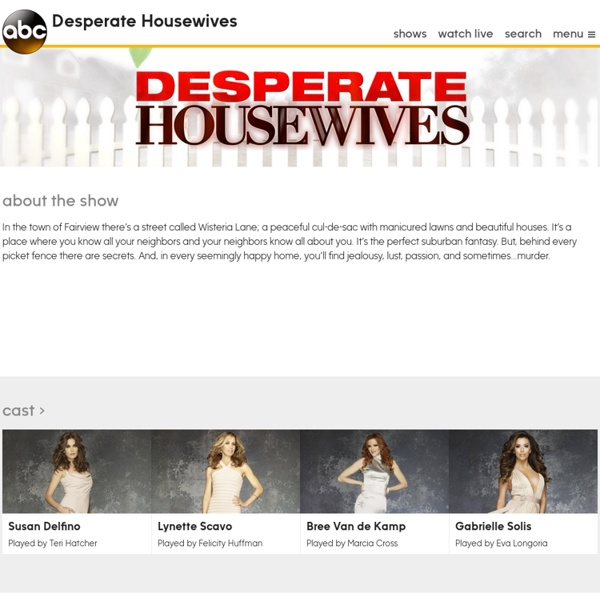 Desperate Housewives: Watch Full Episodes for Free Online