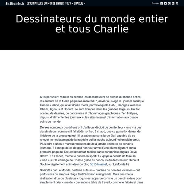 Dessinateurs du monde entier, tous «Charlie»