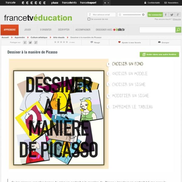 Dessiner à la manière de Picasso, fiches et ressources pédagogiques - curiosphere.tv : Vidéos sur l'art e.