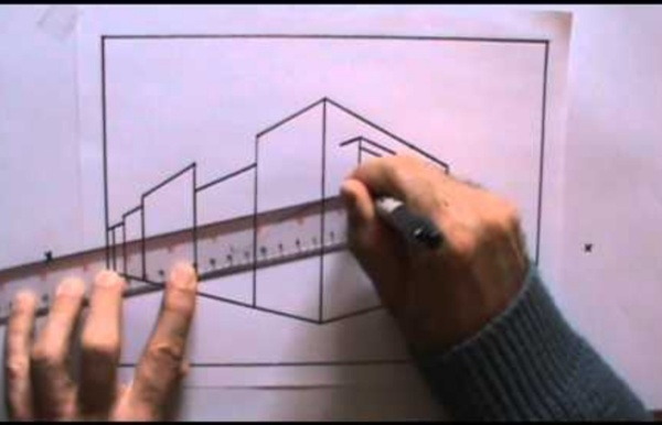 Dessiner la perspective 3 Le Point De Fuite Leçon de dessin cour d'art de peinture