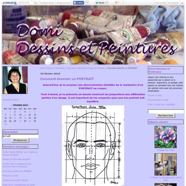 Comment dessiner un PORTRAIT - Domi Dessins et Peintures