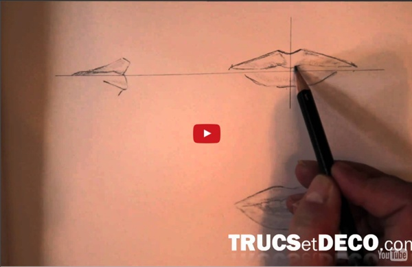Dessiner une bouche - Tutoriel par trucsetdeco.com