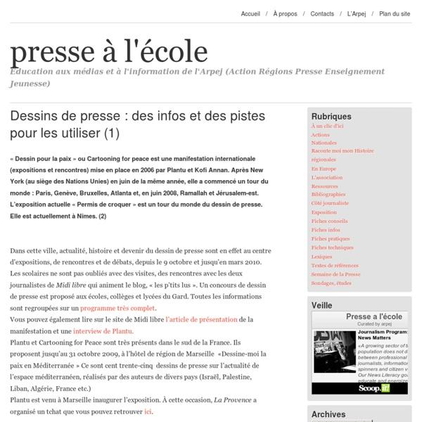Dessins de presse : des infos et des pistes pour les utiliser