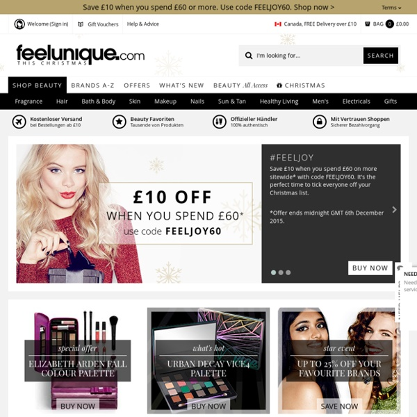 The Destination For Beauty & Cosmetics – Free Delivery Worldwide - feelunique.com