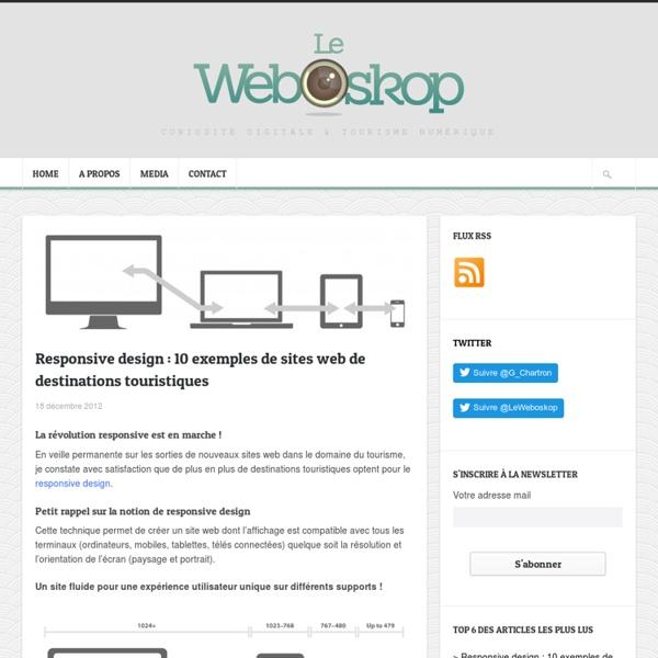 Responsive design : 10 exemples de sites web de destinations touristiques