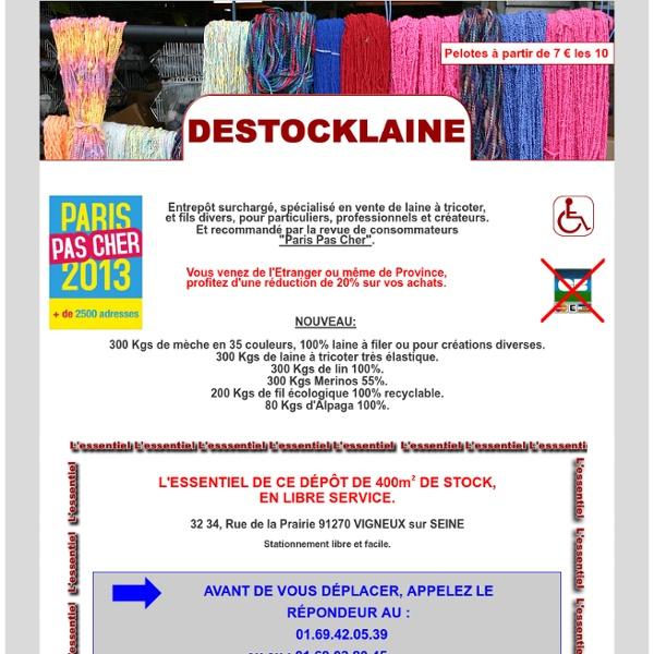 Destocklaine, spécialiste de la laine à tricoter