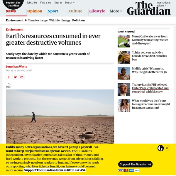 Earth's resources consumed in ever greater destructive volumes